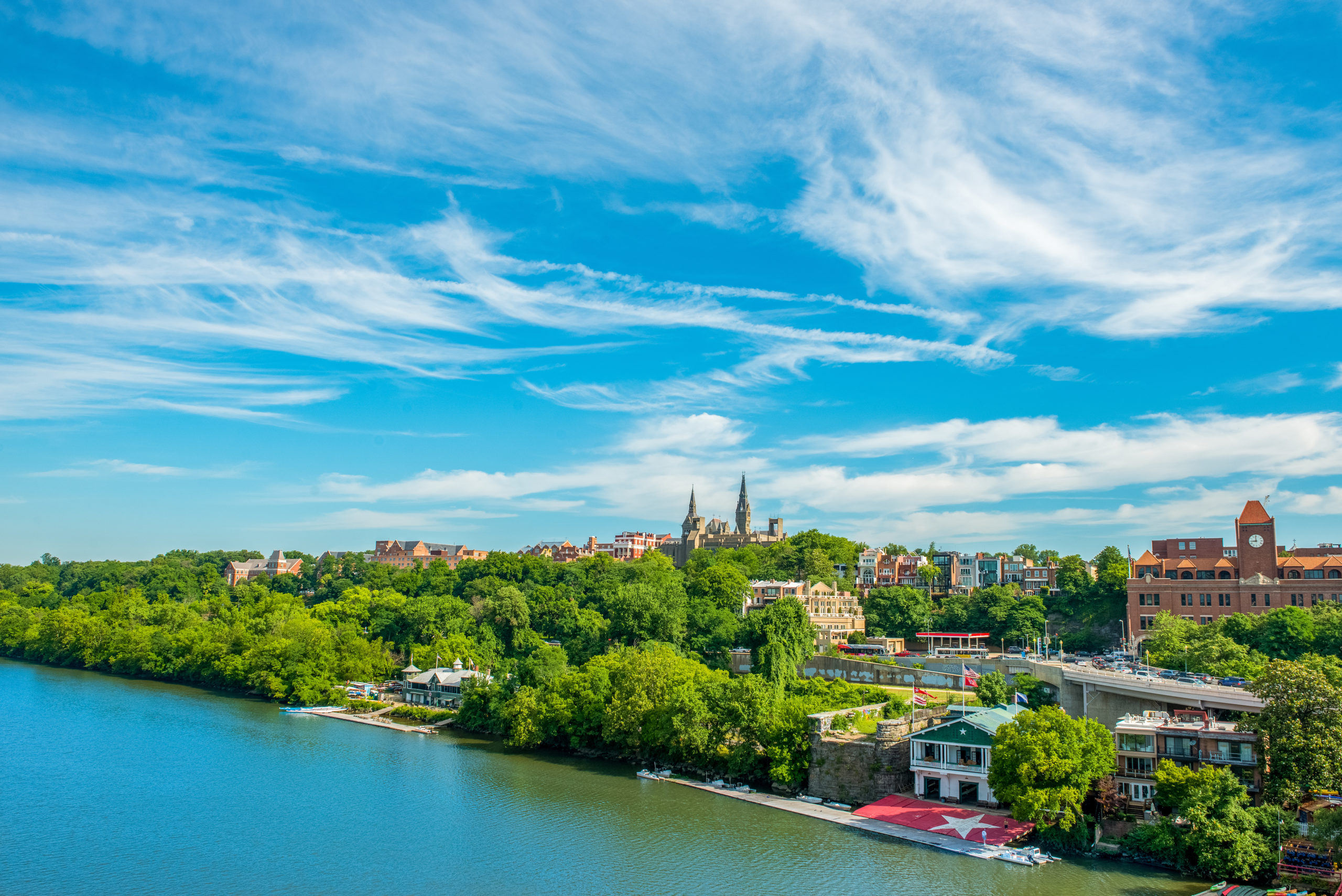 Picutre of Georgetown from Key Bridge